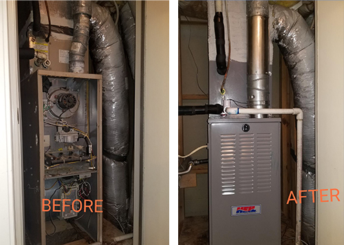 before after furnace service